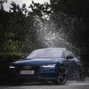 Splashed Audi