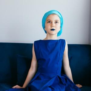 Lia in albastru